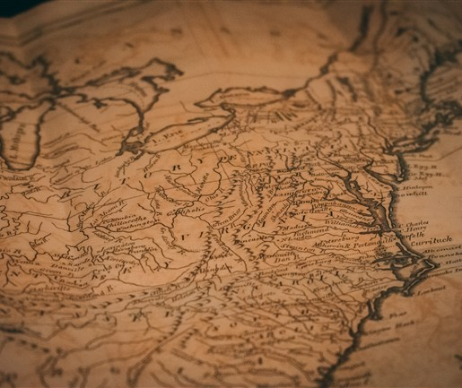 Antique US map