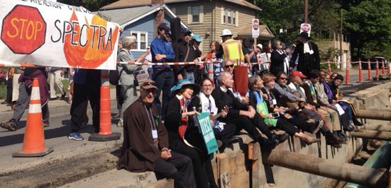Clergy protest pipeline installation